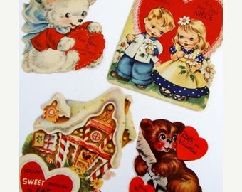 ONSALE Antique and Vintage Kitsch Valentine Lot 15
