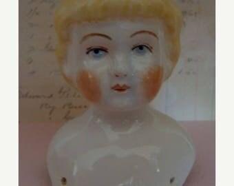 ONSALE Antique German Numbered and Signed Large Shoulder Doll Head/Bust
