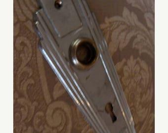 ON SALE One Antique Art Deco Door Plate