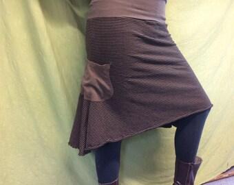 Rainforest Skirt/ Hemp and Organic Cotton Stripes