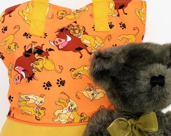 Lion King Child Tote / School Tote / Book Travel Bag / Overnight Bag / Embroidered with Childs name