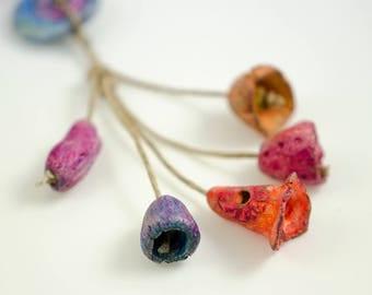 Floweresque... Organic beads ceramic Artisan Bead Set