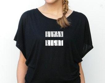 Equality Tshirt - Womens Bella Flowy Top - Human Rights - Redwood Design -  Small, Medium, Large, xl, 2xl