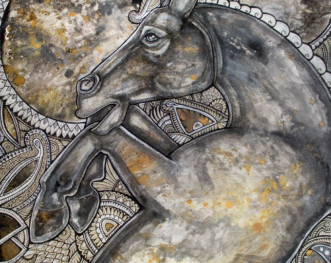Original Horse Painting / Contemporary Art by Lynnette Shelley