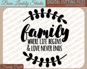 Family SVG, Quote About Family Love svg, Love My Family svg, SVG File For Silhouette Pattern, SVG File For Cricut Projects, svg Format File