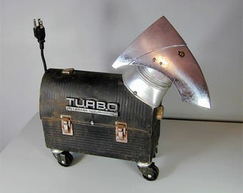 TURBO  Found Object  Robot Dog Sculpture Assemblage Recycled Metal