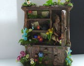 Gothic Witch Hidden Tree Warrior Magical Alice in Wonderland inspire fairy Hutch dollhouse miniature fairytale ooak Custom orders Welcome