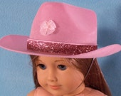 18 Inch Doll Pink Cowgirl Hat