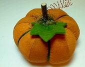 Size 2 | Pumpkin Spice orange  | Halloween | Thanksgiving | Fall Decor | Table Decor | Stuffed Pumpkin | Shelf Sitter | Pin Cushion |  #6