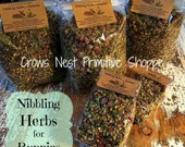 Certified Organic Nibbling Herbal Blend for Bunny Rabbits-  red clover rosehips chamomile & dandelion  TWO Sizes Available w/ Free Shipping
