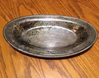 Silver Plate Oval Serving Tray