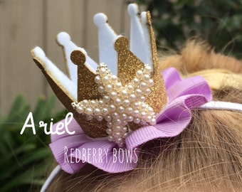 "ARIEL CROWN with Rhinestone Crown Embellishment-approximately 2""x2"""