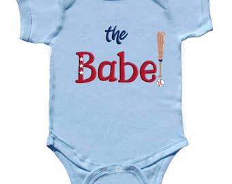 Baby Boy Baseball Bodysuit Funny Baby Baseball Shirt for boys  Boy Romper by Mumsy Goose Infant Sport Shirts