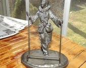 1920s art deco clown place card holder - charity for cats and kittens