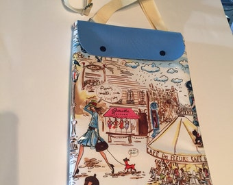 """IPad case """"Paris in the Spring""""  with adjustable strap"""