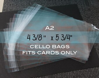 "100 Clear Resealable A2 Polypropylene Bags or Sleeves for Photos, Cards or Packaging. 4 3⁄8"" x 5 3⁄4"""