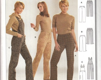 Burda 8408 Pants and Overalls women sewing pattern - UNCUT Size 8 to 20