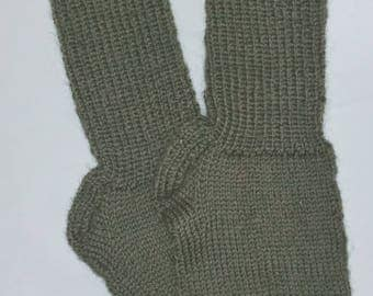 New Warm and Soft Hand Knit 100% Pure Wool Socks (10.0 inches length)