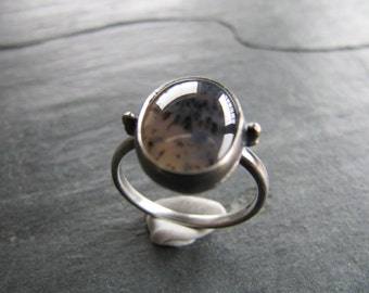 Petite Montana Agate Ring in Sterling Silver