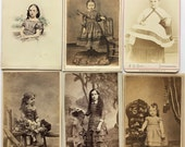 Civil War Era CDV's of Children -- 1860's and 1870's PHOTOGRAPHS - Identified