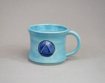 Sapphire Mug: Crystal Gem Inspired Steven Universe Ceramic Coffee Mug