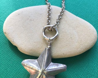 Starfish Thai Silver Necklace- Hill Tribe Silver- Sea Life- Starfish Necklace
