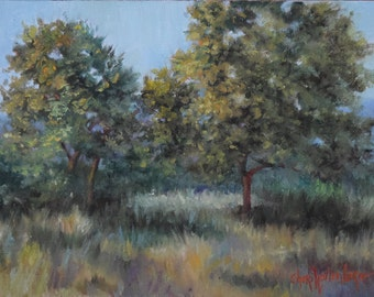 Tree Landscape Painting,Original Oil On Canvas Art by Cheri Wollenberg