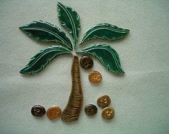 DUB - Smaller PALM TREE Set - Ceramic Mosaic Tile Set