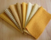 Hand Dyed Wool Felt, BUTTERCUP, 8 pieces in Golden Yellow, Perfect for Rug Hooking, Applique and Crafts