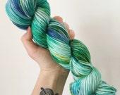 Mermaid Hair- Hand dyed DK yarn 100g/225M superwash merino
