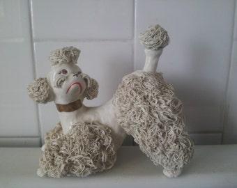 SWEET Vintage WHITE Spaghetti Poodle