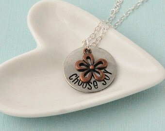 Choose Joy Hand Stamped Necklace