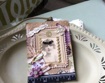 Handmade Seamstress Card - Sewing-theme Card - Victorian Card Mom