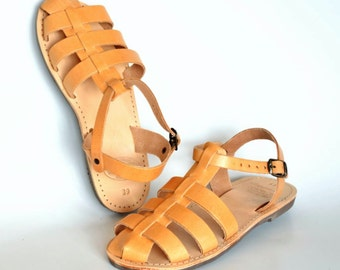 ANANIAS Greek Roman leather sandals for women