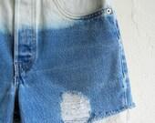 30% OFF HOLIDAY SALE Ombré Medium Wash Levi's Denim Shorts