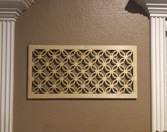 Unfinished Wood Celtic Style Knot ,Grid, Panel 14.2 x 29 inch
