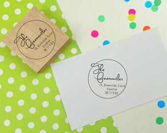 Return Address Stamp - Small Circle Design