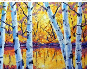 On Sale Birch Tree Large Painting Morning Sparkle Birches created by Prankearts