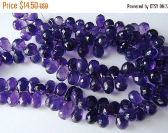 SALE Purple Amethyst faceted briolette