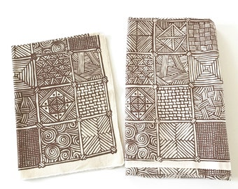 Mid-century Pattern Vintage Fabric Tablecloth AND Table Topper ABSTRACT Design