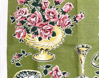 Floral Tea Towel Dinner Parry Glassware Chafing Dish Cigarette Ashtray Wall Hanging Decor Art Lamont Textile Flower Vase Mother's Day Gift