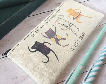 Small Space Cats Zipper Pouch