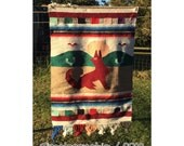 Tapestry - Mexican Decor - Navajo Decor - Textile - Wall Hanging - Wool Wall Hanging - Wolf Art - Serape - Wool Tapestry - Wool Textile