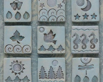 mixed media assemblage,home decor, clay, art, one of a kind , neutral colors,wall art