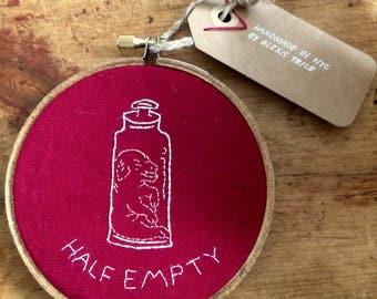 Piglet Jar specimen Embroidery
