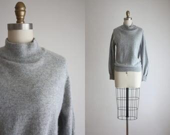 dove gray angora sweater