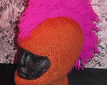 50% OFF SALE Instant Digital File pdf download madmonkeyknits knitting pattern-Punk Mohican Balaclava & Beanie Hat pdf knitting pattern