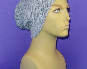 50% OFF SALE Digital pdf download knitting patten -  Rib Pattern Super Slouch Hat pdf knitting pattern