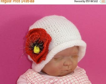 50% OFF SALE Instant Digital File PDF Download Knitting Pattern-not the hat- Baby Poppy Flower Slouch Knitting Pattern
