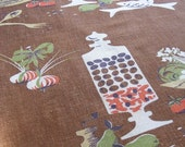 Black Friday Sale Eames Era Kitchen Linen Towel SALAD, FISH, OLIVES Tea, Dish By Violets and Grace on Etsy